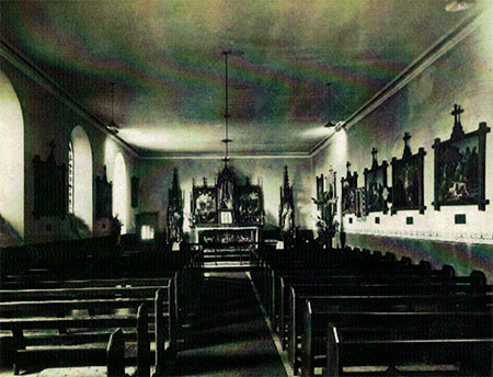 St. Joseph's in the 1930s with its new electric lights